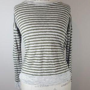 Madewell long sleeve stripped top